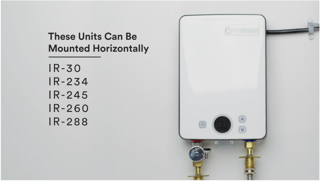 How To Install Siogreen Point Of Use Tankless Water Heater