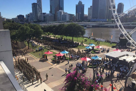 Anzac Day March Brisbane 2015