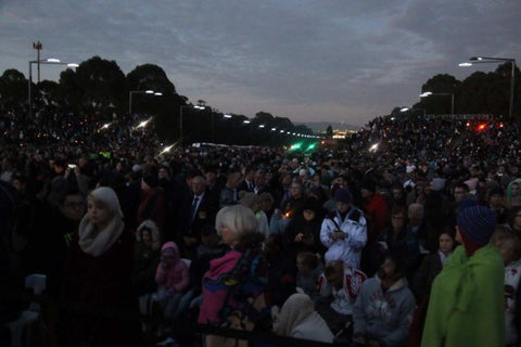 Anzac Day March and Dawn Service Canberra 2015