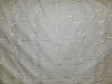 Embroidered Contemporary Circles Oatmeal 03185