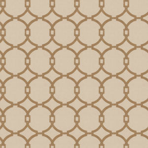 Embroidered Fretwork/Circles Tan 03186