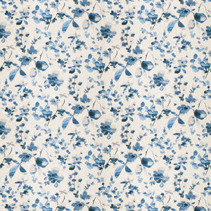 Watercolor Floral Pattern Blue 03367