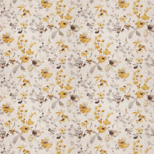 Watercolor Floral Pattern Yellow Gray 03367