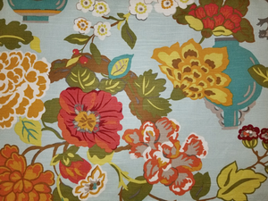 Jacobean Floral Exotic Sky 03373