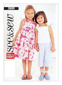 Children's Dress, Top and Pants 3889