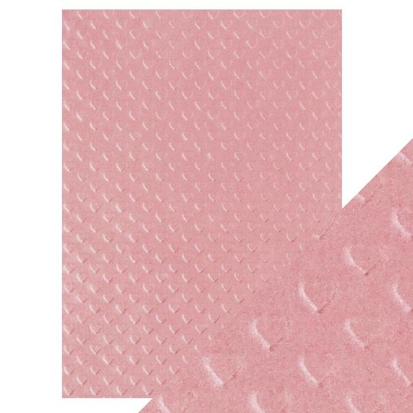 Hand Crafted Cotton Papers-Blush Heartbeat