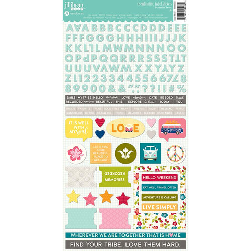 Bohemian Brew Cardstock Stickers