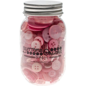 Buttons Galore Button Mason Jars - MORE COLOR OPTIONS