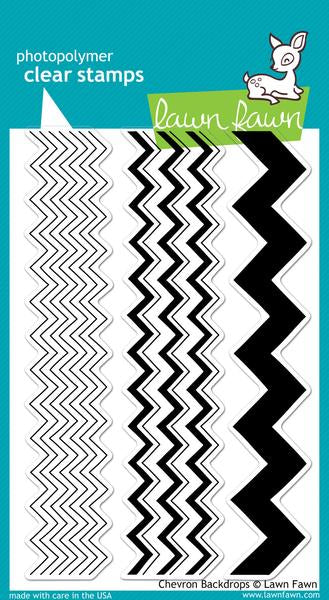 Lawn Fawn Chevron Backdrops Stamps