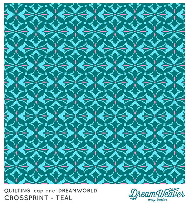 Cross Print Teal by Amy Butler