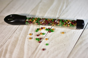 6/0 Czech Glass E Beads - Christmas Mix