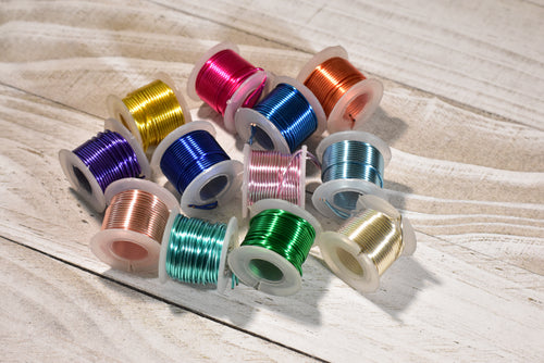 Artistic Permanently Colored Silver Plated Wire - 12/pack - 20 gauge