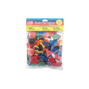 Darice Plastic Kids Buttons 6oz