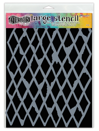 Ranger Dylusions 5x8 Stencils - Diamond Small