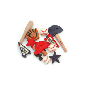 Dress It Up Baseball Buttons