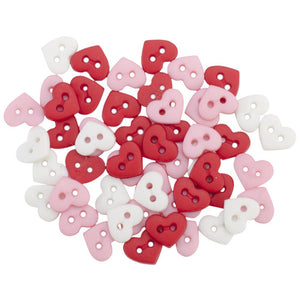 Dress It Up Micro Valentine Hearts Buttons