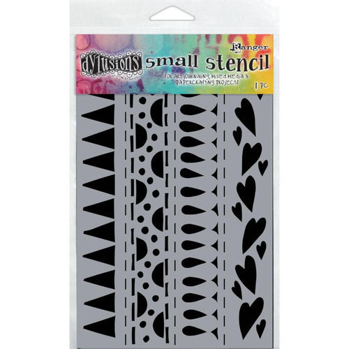 Ranger Dylusions 5x8 Stencils - Heart Border Small