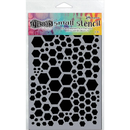 Ranger Dylusions 5x8 Stencils - Honeycomb Small