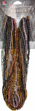 Jewelry Basics Strung Glass Seed Beads  - Black/Brown Mix 3.18 oz
