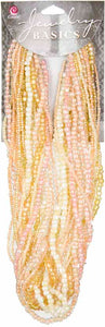Jewelry Basics Strung Glass Seed Beads  - Peach Mix 3.18 oz