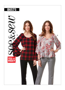 See & Sew Misses Tops B6575