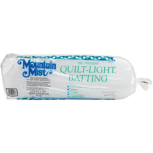 Mountain Mist Polyester Quilt-Light Batting - MORE SIZE OPTIONS