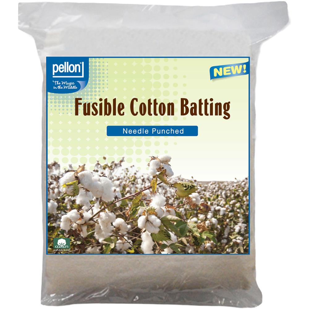 Pellon Fusible Cotton Batting - MORE SIZE OPTIONS