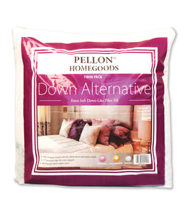 "Pellon Homegoods Down Alternative Pillow Insert 16""x16"" TWIN pack"