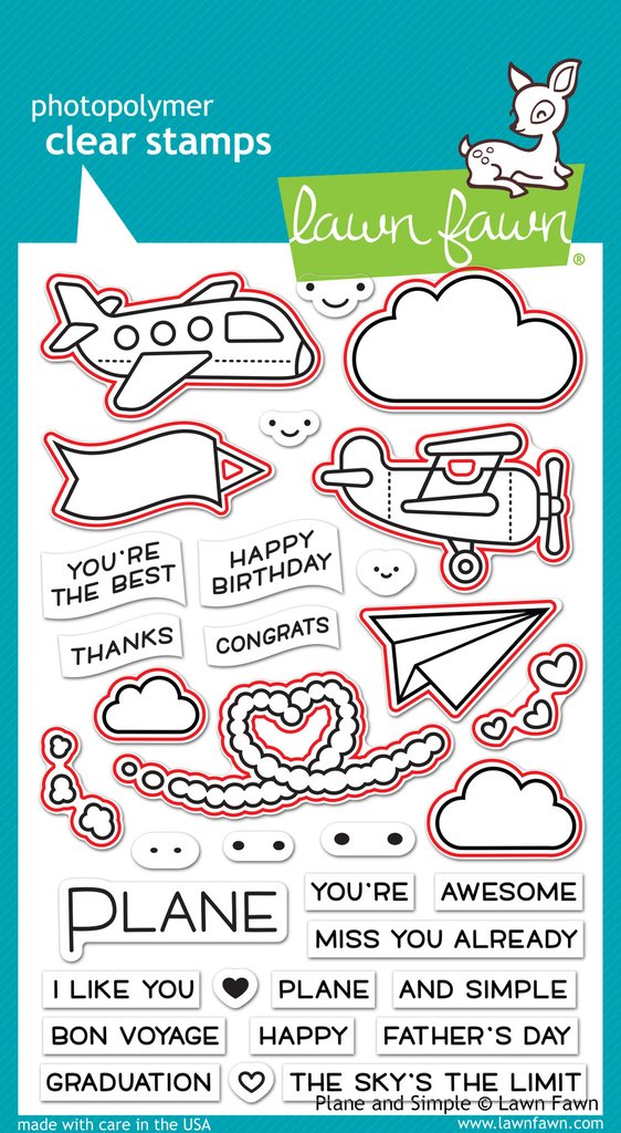 Lawn Fawn Plane and SImple Stamps