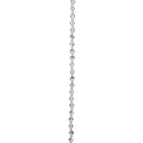 Preciosa Crystal Bead Strand - Crystal AB - 3 & 6 mm Beads