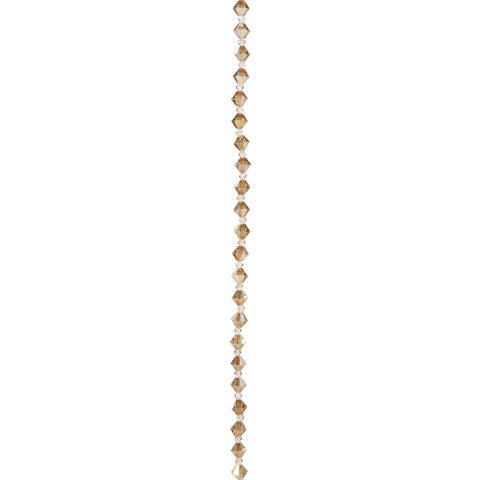 Preciosa Crystal Bead Strand - Golden Flare - 3 & 6 mm Beads
