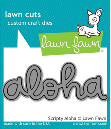 Lawn Cuts Scripty Aloha Die Cut