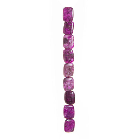 Semi Precious Strung Beads - Purple China Charoite 15 x 20 mm