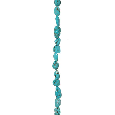 Semi Precious Strung Beads - Turquoise Nugget