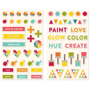 Shades of Color Puffy Stickers
