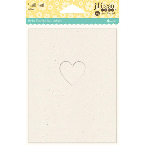 Shaker Cards w/ envelopes - Small Heart