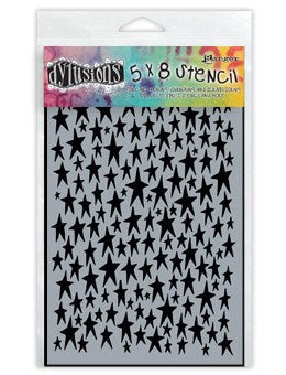 Ranger Dylusions 5x8 Stencils - Stars Small