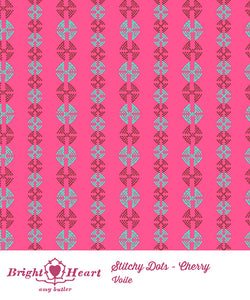 Stitchy Dots Cherry by Amy Butler