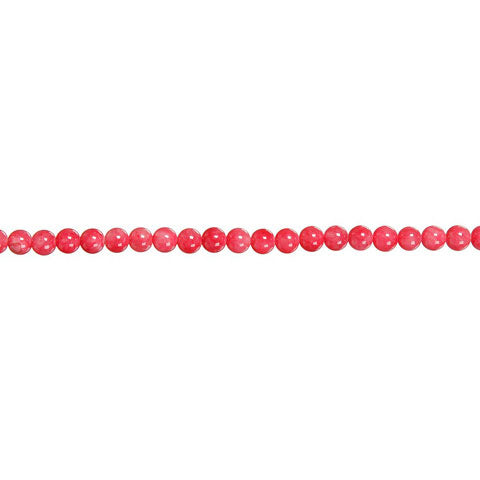 Natural Stone Bead Strand - Pink 8mm Round