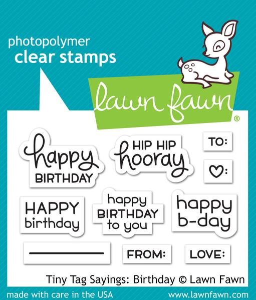 Lawn Fawn Tiny Tag Sayings: Birthday Stamps