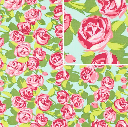 Tumble Roses Pink by Amy Butler