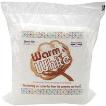 Warm & White Cotton Batting - MORE SIZE OPTIONS