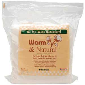 Warm & Natural Cotton Batting - MORE SIZE OPTIONS