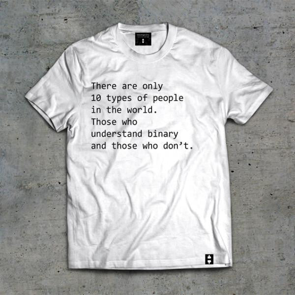 10 Types of People - T-Shirts White / Small Bitcoin Store - 2