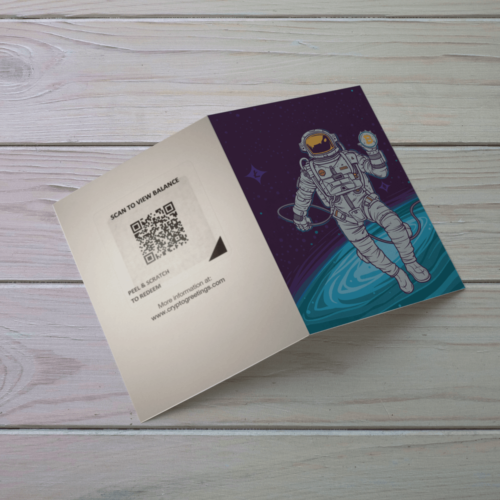 Space Miner Greeting Card