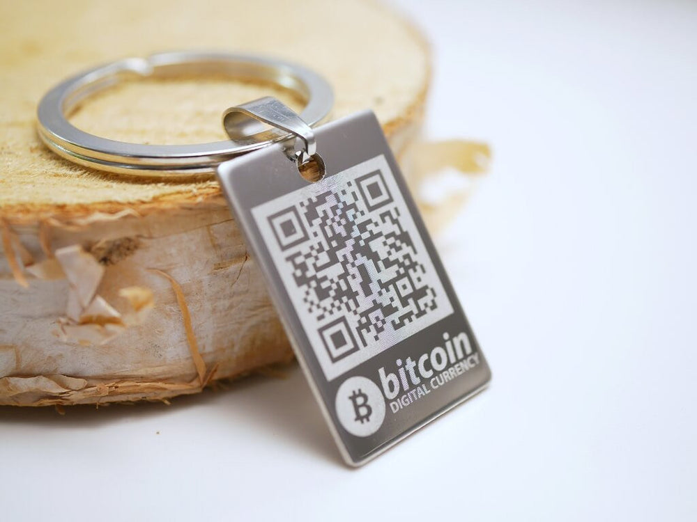 Personalized Bitcoin Wallet Keychain