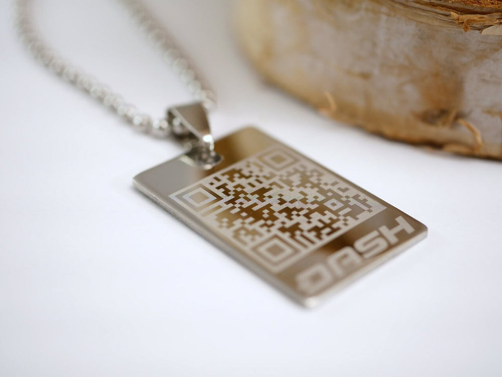 Personalized Dash Wallet Necklace