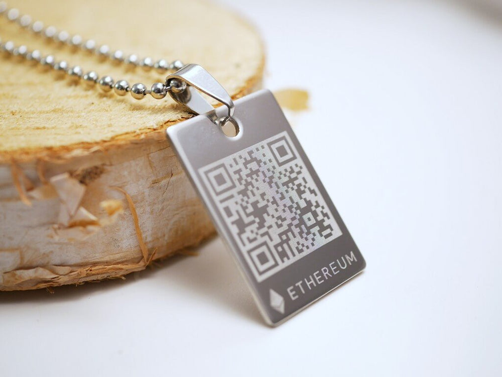 Personalized Ethereum Wallet Necklace