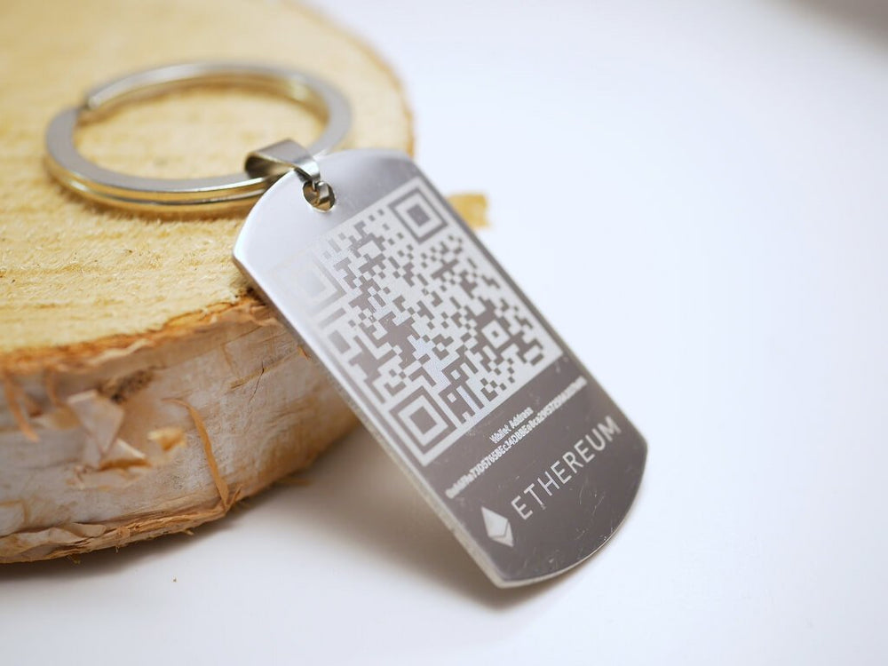 Personalized Ethereum Wallet Keychain Dogtag