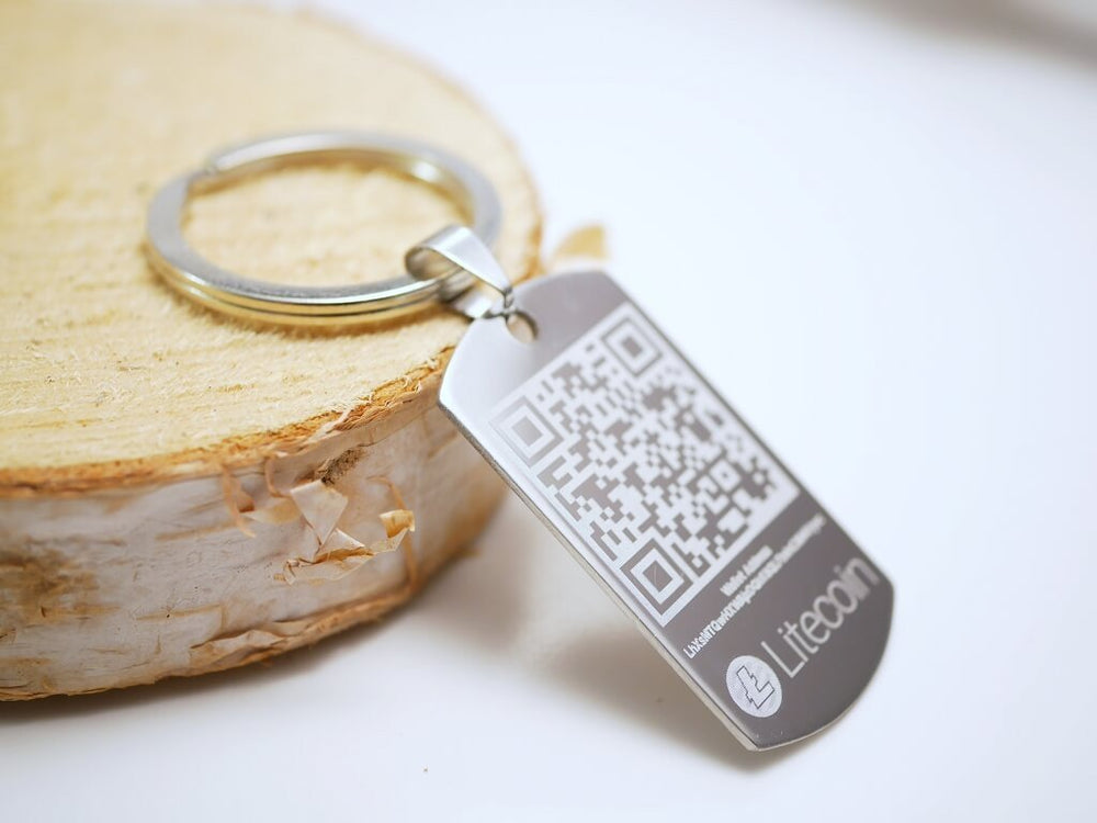 Personalized Litecoin Wallet Keychain Dogtag